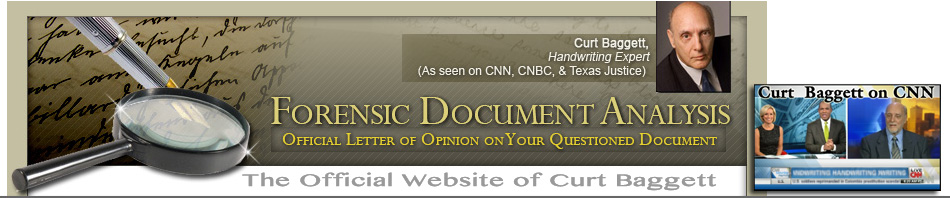 Handwriting Expert Curt Baggett Official Website